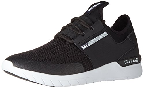 Supra Flow Run, Sneaker Uomo Nero (Black/Black-white 091)