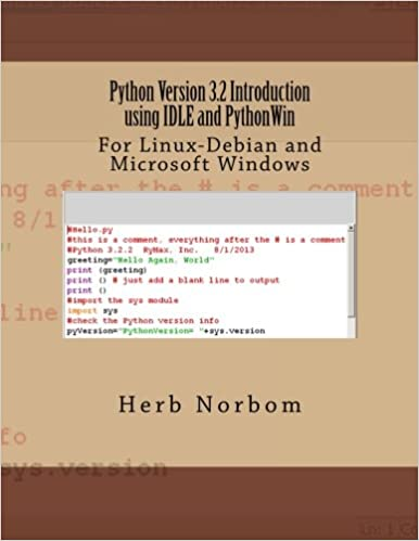 Python Version 3 2 Introduction using IDLE and PythonWin