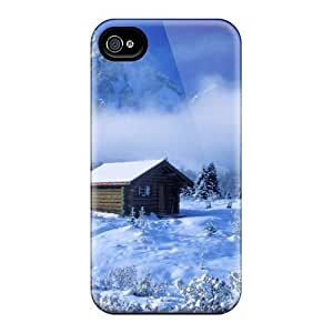 4/4s Scratch-proof Protection Case Cover For Iphone/ Hot Winter House Phone Case