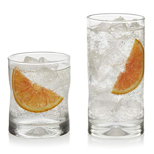 - Libbey Impressions 16-Piece Tumbler and Rocks Glass Set (Renewed)