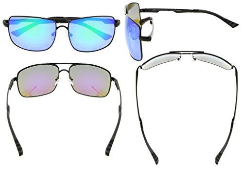 soleil lunettes Eyekepper Noir Polycarbonate hommes Verre de pour soleil Vert verres Polarisees Lunettes wYrY6E