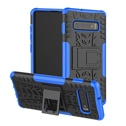 Price comparison product image Berry Accessory Galaxy S10 Plus Case, Samsung S10 Plus Heavy Duty Protective Cover Dual Layer Hybrid Shockproof Protective Case with Kickstand Hard Phone Case Cover for Samsung Galaxy S10 Plus Blue