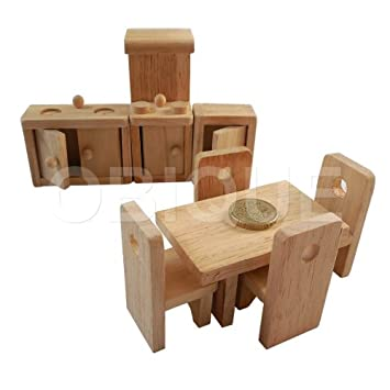 juguete rstico casa de mueca cocina para nias hecho a mano de madera natural set de