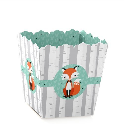 (Mr. Foxy Fox - Party Mini Favor Boxes - Baby Shower or Birthday Party Treat Candy Boxes - Set of 12)
