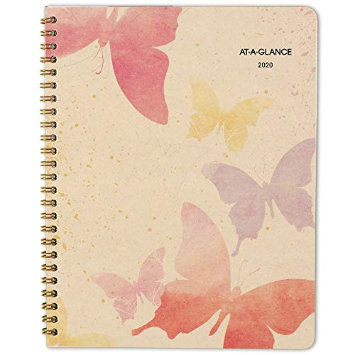 """AT-A-GLANCE 2020 Monthly Planner, 7"""" x 8-3/4"""", Medium, Recycled, Watercolors (791-800G)"""