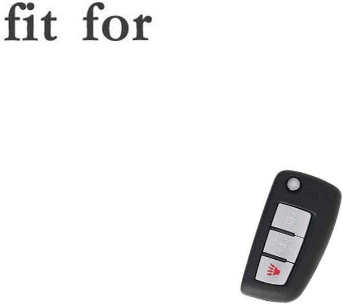 SEGADEN Silicone Cover Protector Case Holder Skin Jacket Compatible with NISSAN 3 Button Flip Remote Key Fob CV4507 Gray