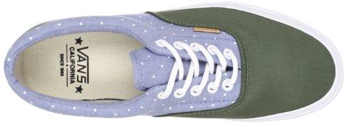 Bestelwagen Unisex Authentieke Geborstelde Twill Sneakers Chambray Polka / Tijm