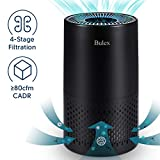 Bulex HEPA Air Purifier Air Purifier with True HEPA Filter for 99.97% Purification, 4-Stage Filtration & Timing Function & Sleep Mode & Night Light, Easy to Set Air Purifier, Perfect for Bedroom
