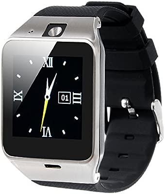 VOSMEP 2016 Reloj Inteligente Smart Watch con Bluetooth 3.0 Teléfono Inteligente Amarre Pulsera con 1.5 inch Pantalla Táctil Cámara para Android ...