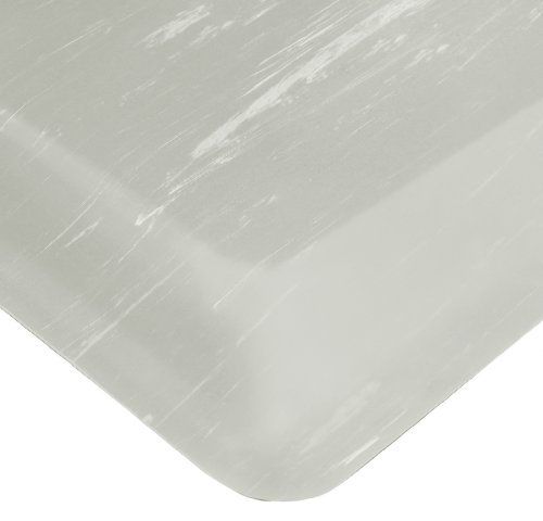 Wearwell PVC 420 SpongeCote Tile-Top Anti-Microbial Mat, Safety Beveled Edges, for Dry Areas, 2' Width x 3' Length x 1/2