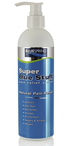SuperBlue Pain Relief Cream, 12 Ounce Bottle with Pump by Blue Stuff
