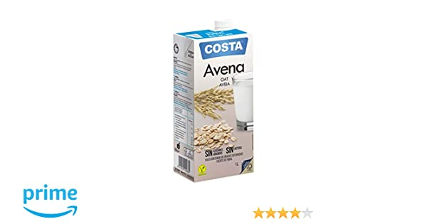 COSTA Bebida de Avena Convencional - Paquete de 6 x 1000ml - Total 6000ml: Amazon.es: Alimentación y bebidas