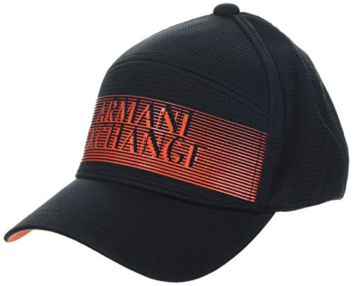 Armani Exchange Men's Graphic Logo Hat, nero/black, UNI (Caps Armani Exchange Black)