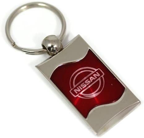 dantegts Nissan logotipo grabado Llavero Rojo Wave cromo ...
