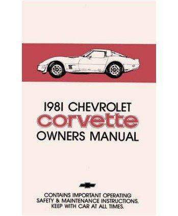 amazon com 1981 chevrolet corvette owners manual user guide automotive rh amazon com 1981 corvette factory service manual 1981 corvette factory service manual