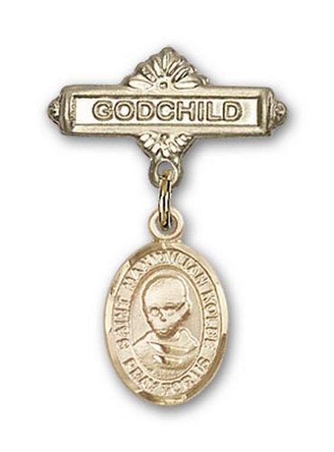 Icecarats Or Bijoux De Créateurs Rempli R. Broches Badge Kolbe Charme Filleul Maximilien 1 X 5/8