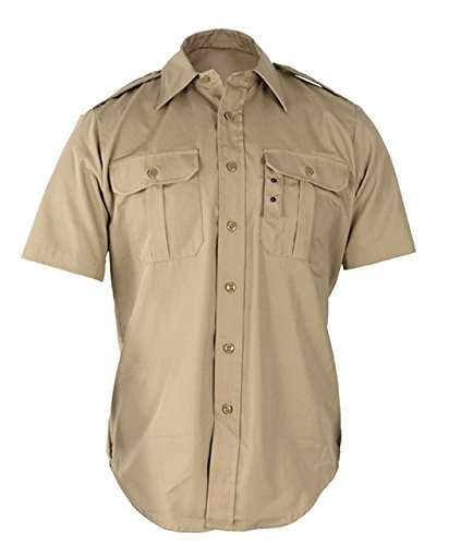 Khaki Shirts Military (Propper Men's Short Sleeve Tactical Dress Shirt, Khaki, x Large)