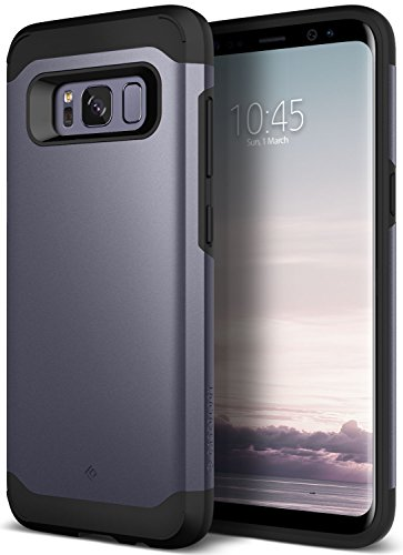 Galaxy S8 Case Caseology Legion Series Heavy Duty Protection Slim Protective Rugged Dual Layer Corner Cushion Design for Samsung Galaxy S8 2017 Violet Grey by Caseology