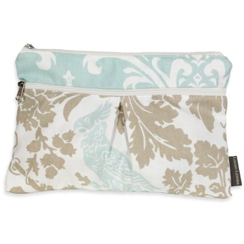 Logan & Lenora Wet and Dry Diaper Clutch - Blue Tweet