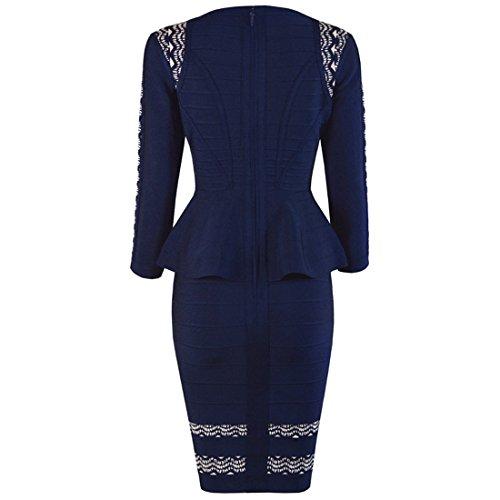 XS HLBCBG blau Kleid Damen blau wqPnIRBXP