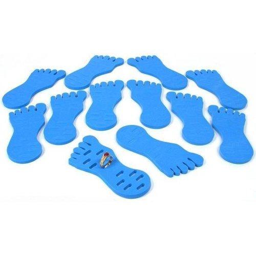 Display Ring Toe Foam (12 Toe Ring Displays Foam Foot Blue Body Jewelry Holder)