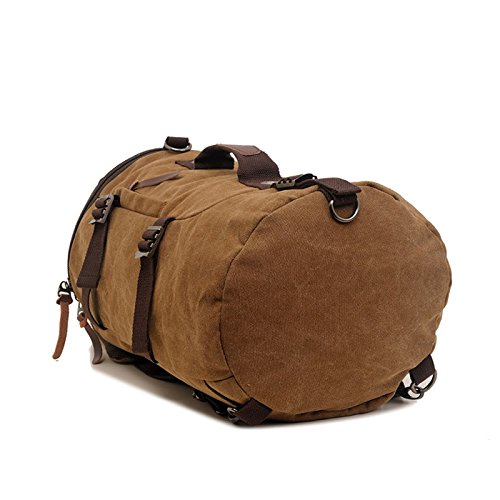 Travel Hiking Canvas Black Daypacks Camping Rucksack For Convertible Bag Large Mountain Versatile Capacity Backpack Casual naROxxwU