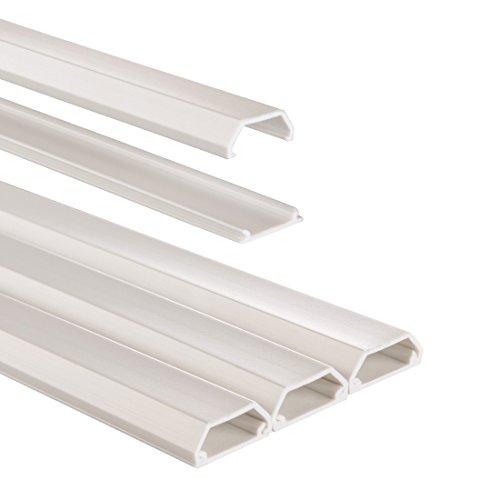 Hama Kabelkanal PVC (halbrund, 100 x 2,1 x 1,0 cm, bis zu 3 Kabel, 3 Stück), weiß