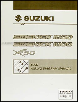 1996 suzuki sidekick 1600 and sport 1800 x 90 wiring diagram manual rh amazon com suzuki sidekick wiring diagram 1994 suzuki sidekick wiring diagram
