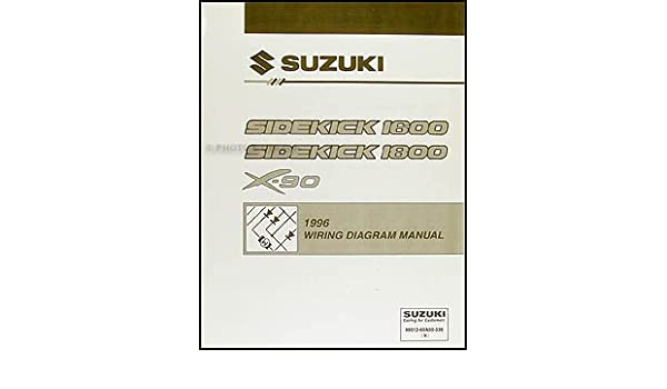 1996 suzuki sidekick 1600 and sport 1800 x-90 wiring diagram manual: suzuki:  amazon com: books