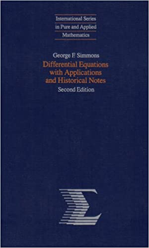 Differential Equations with Applications and Historical