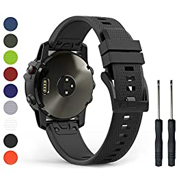 Humenn 22mm Band Compatible with Garmin Fenix 5, Soft Silicone Sport Watch Strap Replacement for Fenix 5 Plus, Garmin Instinct, Forerunner 935, Approach S60, Quatix 5(Not Fit Fenix 5X/5S)