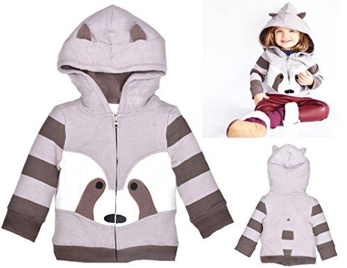 Spring Animal Raccoon - Mini Jiji Stretch Hoodie / Jacket for Baby Infant Toddler Kids (12-18 mos, Raccoon)