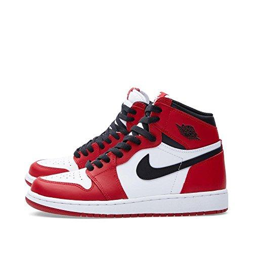1 Rouge White Garçon Black Chaussures de Red High Retro Basketball Blanc OG Sport Noir varsity Nike BG Air Jordan qxPZB0E6