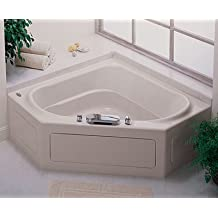 Jacuzzi K723959WH Capella 55 Acrylic 55-Inch by 55-Inch by 20-1/2-Inch Soaking Bath, White Finish