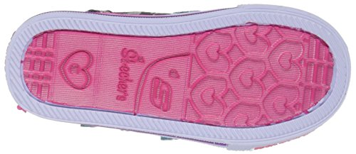 Skechers Kids Twinkle Toes Shuffles Lil Skippers Light-Up Sneaker (Toddler/Little Kid) Black/Turquoise