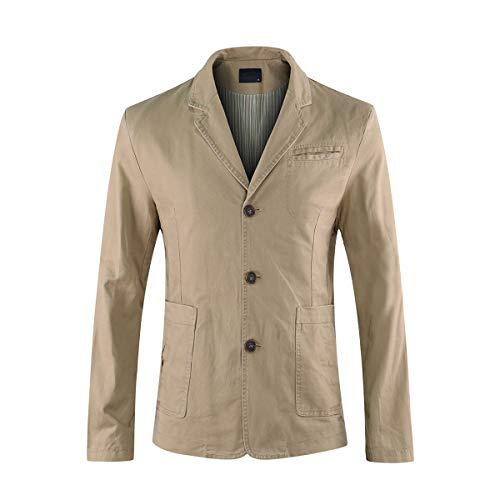 Kaki Blouson Slim Veston Jacket Blazer Veste Homme Casual T8wPwBqOHn