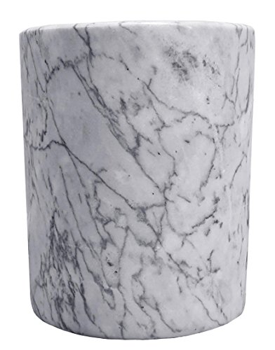 ComeAlong Industries Tabletop White Marble Wine Cooler, 4...