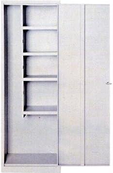 Armario 1 puerta de chapa Escobero Rafia, 60 x 40 x 176H cm fornito sin montar: Amazon.es: Bricolaje y herramientas
