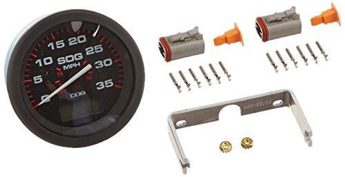 Sierra International 781-579-035P Scratch Resistant Amega Gauge Domed 35 MPH GPS Speedometer, 3