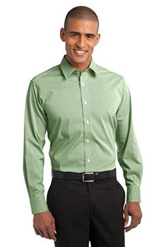 Port Authority   Fine Stripe Stretch Poplin Shirt 3Xl  Wintergreen White