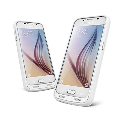 Galaxy S6 Battery claim New PowerSuit Extended ability claim for Samsung Galaxy S6 really trim ability Protection SmartIQ risk-free cost modern technology higher gloss White Battery Charger Cases