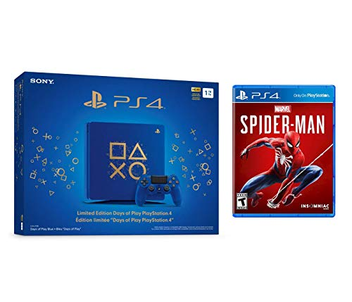 Playstation Marvel's Spider-Man Days of Play Bundle: Days of Play Limited Edition 1TB Playstation 4 Slim Console and Marvel's Spider-Man Game