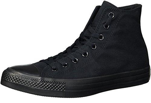 Converse Chuck Taylor All Star Canvas Alta Cima Sneaker Nero Monocromatico