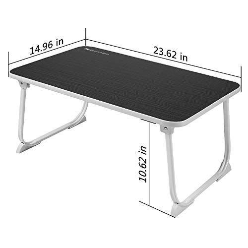 Large Lap Desk Bed Tray NNEWVANTE Laptop Table Desk Foldable Portable Standing Breakfast Reading Tray Holder for Couch Floor Students Kids Young Color(Black) by NNEWVANTE (Image #2)