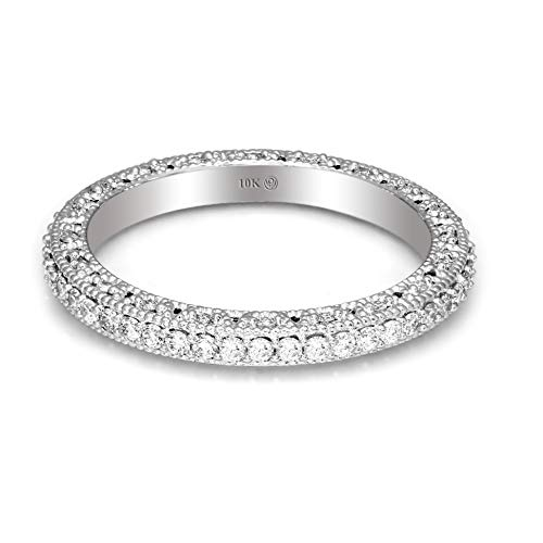 100% Pure Diamond Ring Luxury Eternity Band Diamond for sale  Delivered anywhere in USA