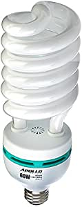 Apollo Horticulture 60 Watt CFL Compact Fluorescent Grow Light Bulb for Plant Growing - 6500K