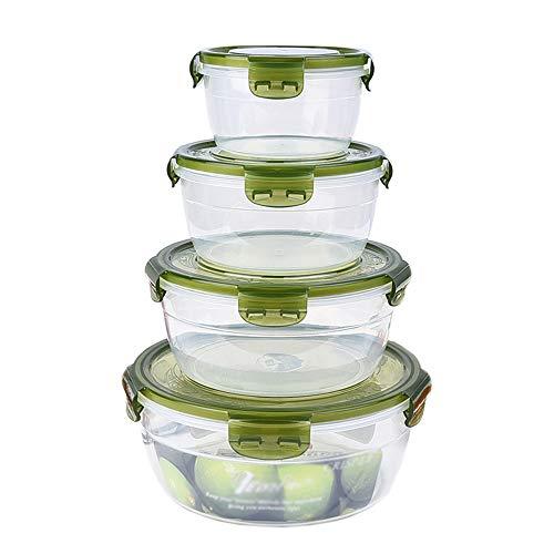 El juego redondo de plástico sellado para frutas y verduras de 4, se puede utilizar para refrigerar alimentos refrigerados,...