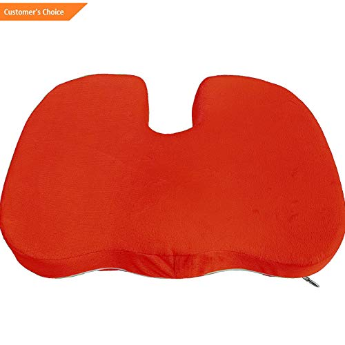 Werrox Memory Foam Coccyx Seat Pad Cushion Lumbar Pain Relief Chair Pillow Wheelchair | Model CHRCSHN - 141 |