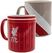 Liverpool FC Retro Twin Mug Set (One Size) (Red/Gray/White)