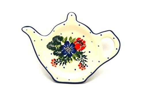 Polish Pottery Tea Bag Holder - Garden Party